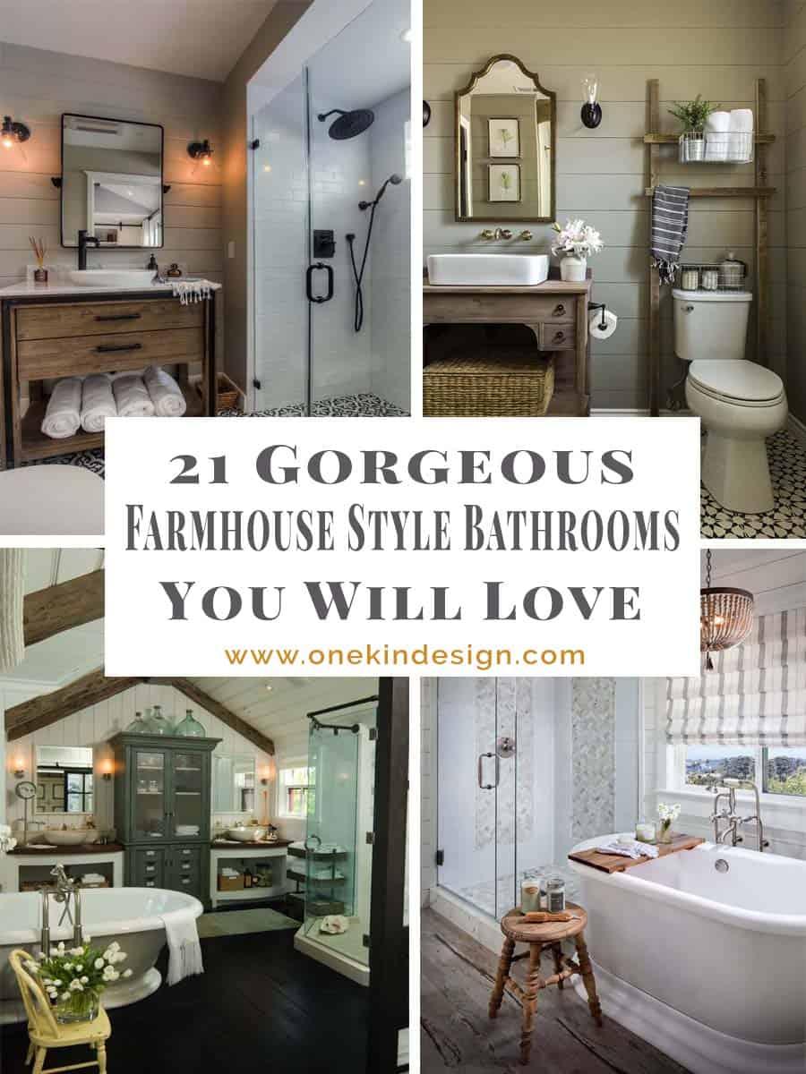 21 Gorgeous farmhouse style bathrooms you will love on Farmhouse Bathroom  id=24511