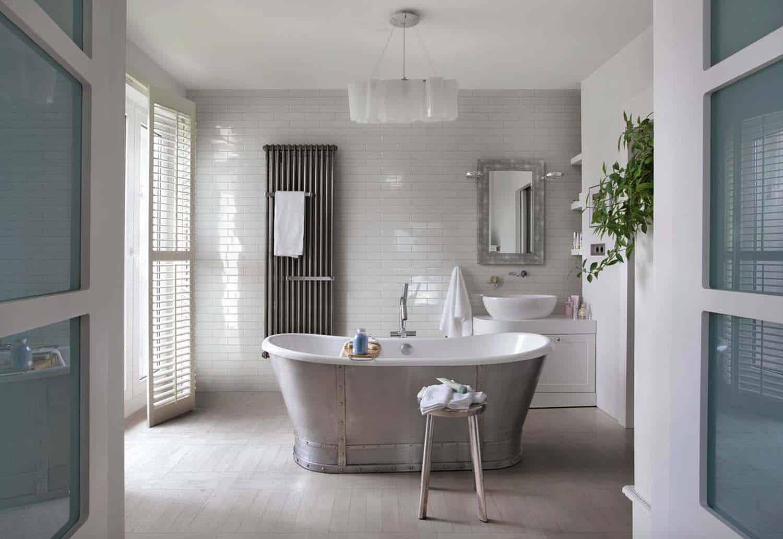 21 Gorgeous farmhouse style bathrooms you will love on Farmhouse Tile Bathroom Floor  id=58649