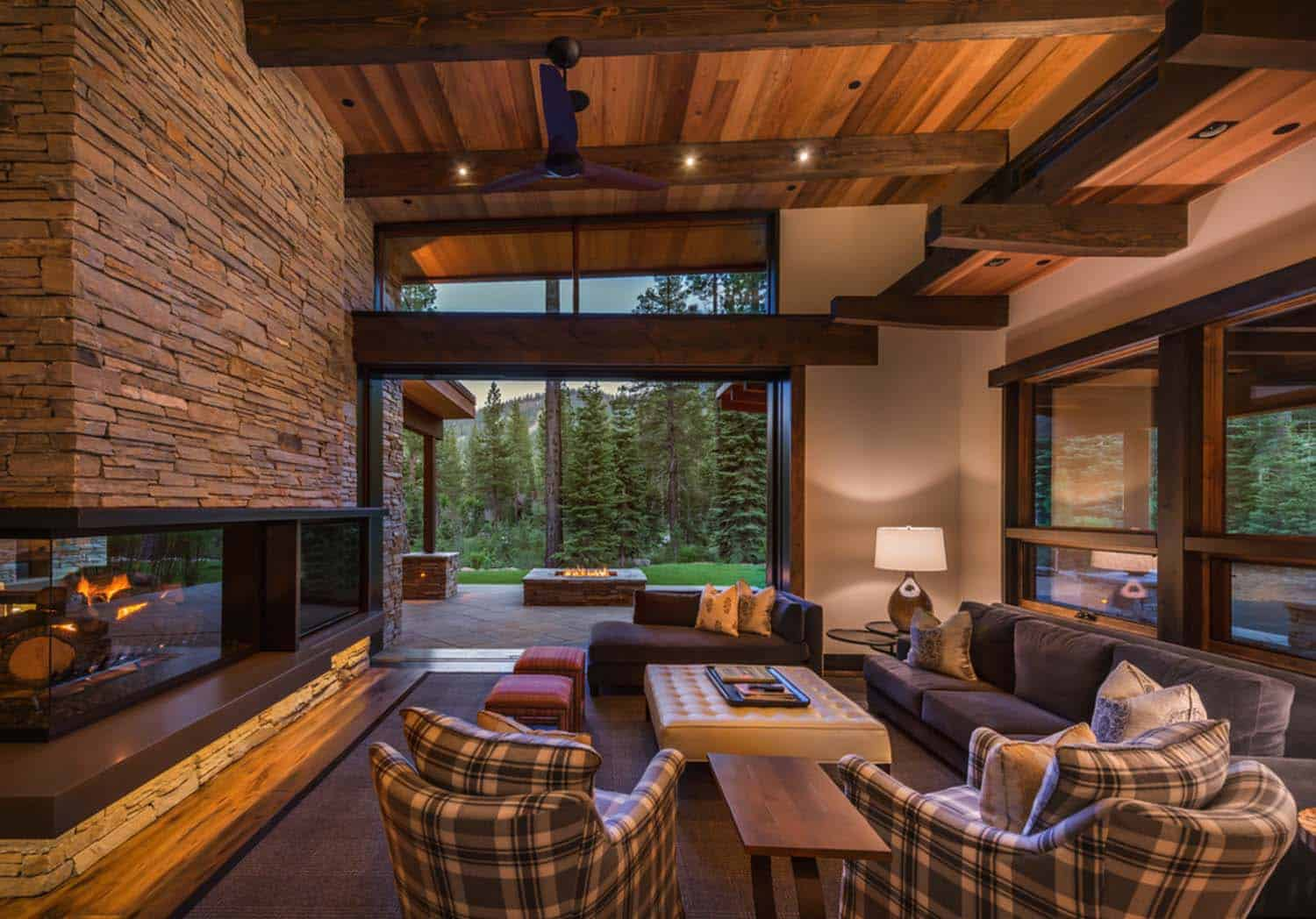 Mountain modern home in Martis Camp with indoor-outdoor living on Modern Style Houses  id=85641