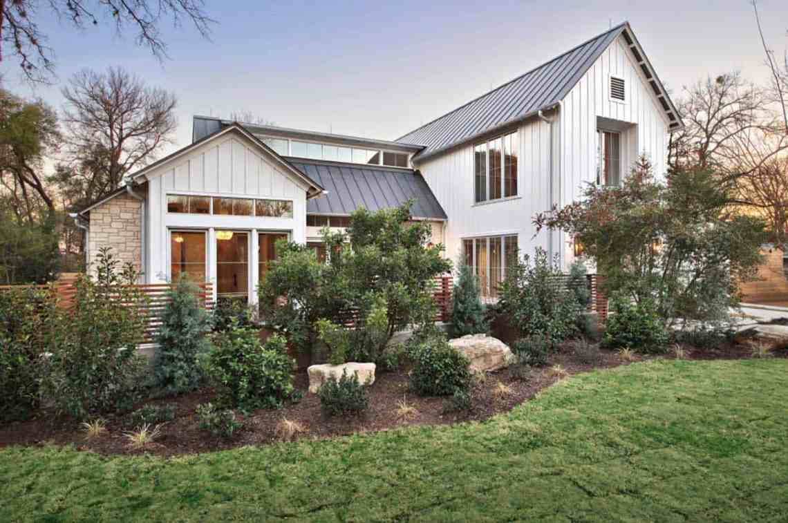 Modern farmhouse features a cool indoor slide in Texas