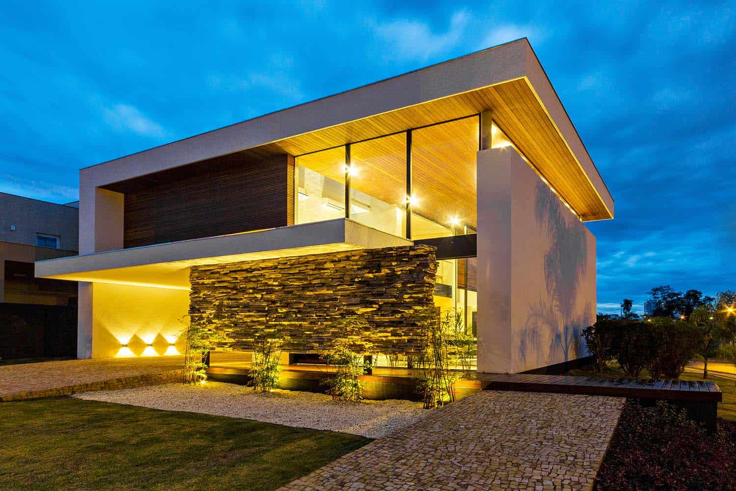Architecturally Striking Two Story Modern Dwelling In Brazil