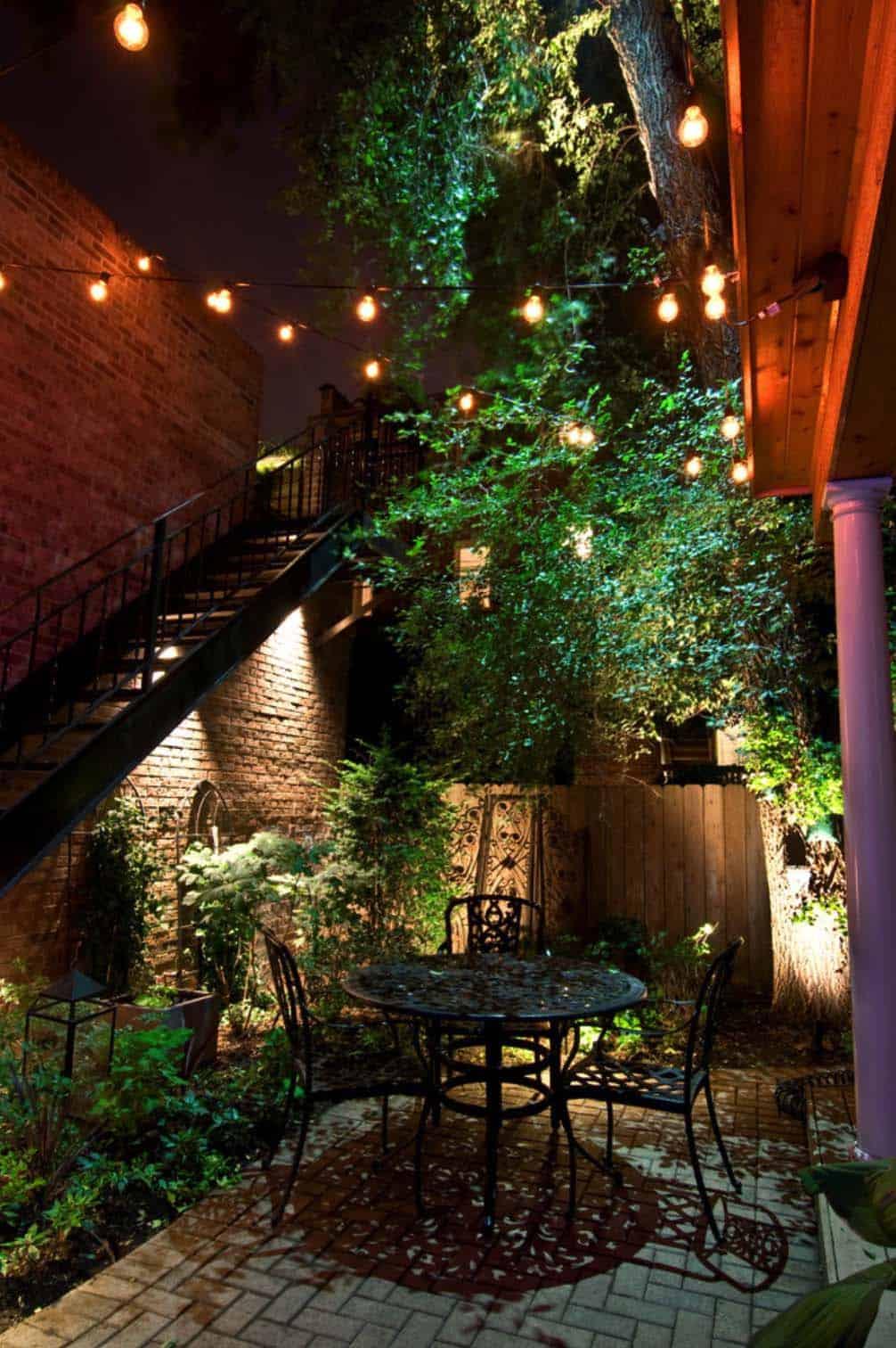 25 Very inspiring string light ideas for magical outdoor ... on Backyard String Light Designs id=61993