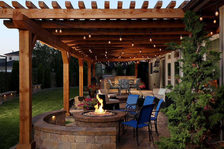 25 Very inspiring string light ideas for magical outdoor ... on Backyard String Light Designs id=91395