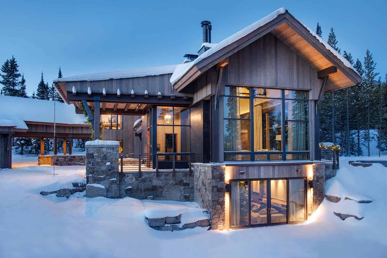 Best Kitchen Gallery: Breathtaking Mountain Modern Home Deep In The Montana Forest of Modern Mountain Homes  on rachelxblog.com