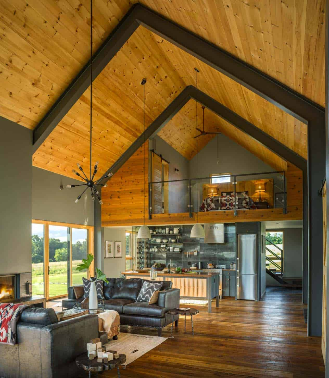 Small and cozy modern barn house getaway in Vermont on Modern Style Houses  id=50237