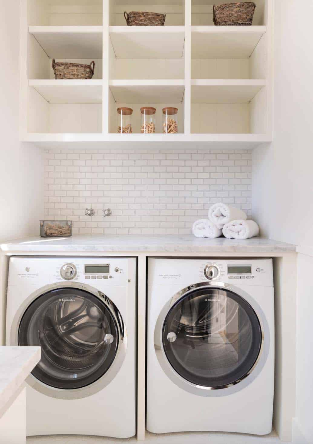 35 Clever ways to create functional and stylish small ... on Small Laundry Room Cabinets  id=24492