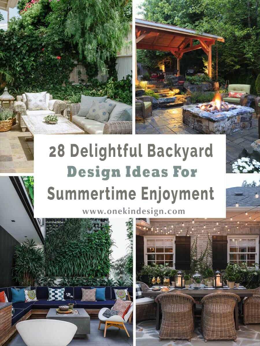 28 Delightful backyard design ideas for summertime inspiration on Small Patio Design Ideas  id=58066