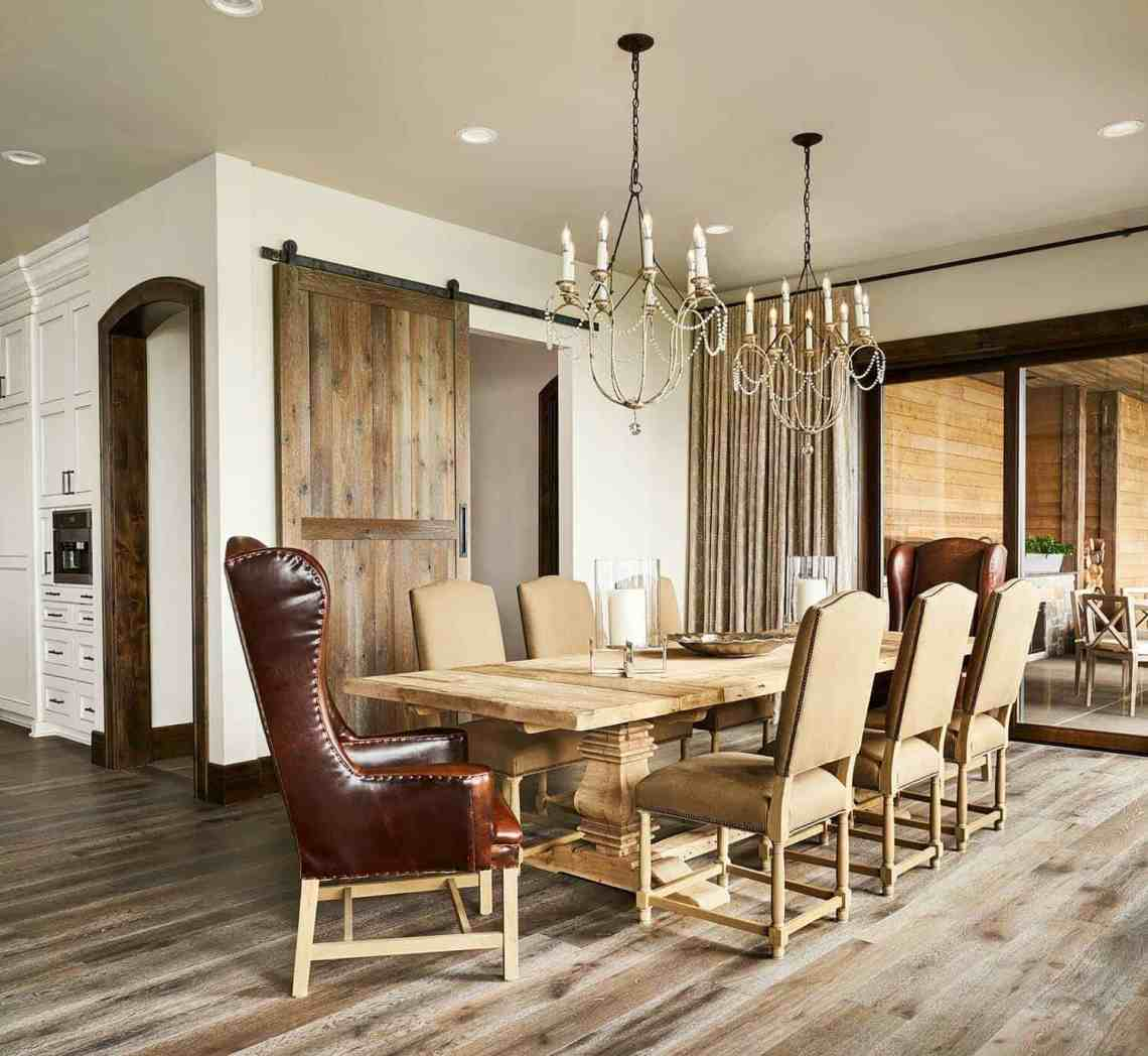 Contemporary rustic farmhouse with stunning living spaces ...