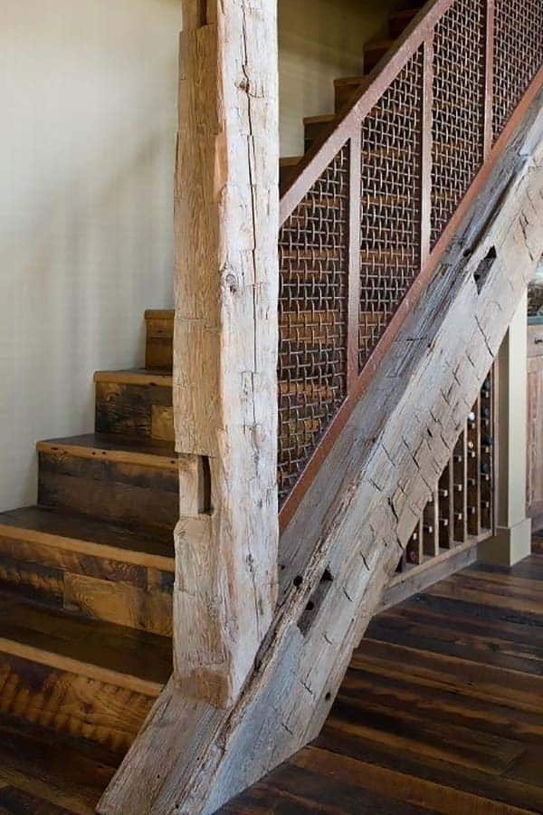 Breathtaking Refresh Of A Rustic Ranch House In The   Rustic Stair Railings Interior