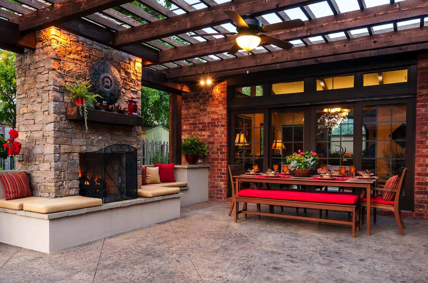 30+ Irresistible outdoor fireplace ideas that will leave ... on Outdoor Kitchen And Fireplace Ideas id=44023
