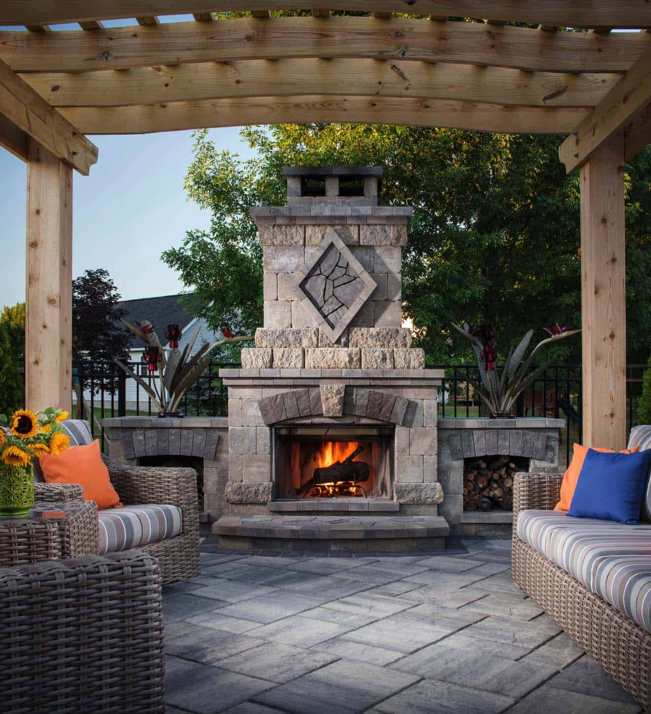 30+ Irresistible outdoor fireplace ideas that will leave ... on Outdoor Fireplaces Ideas  id=15878