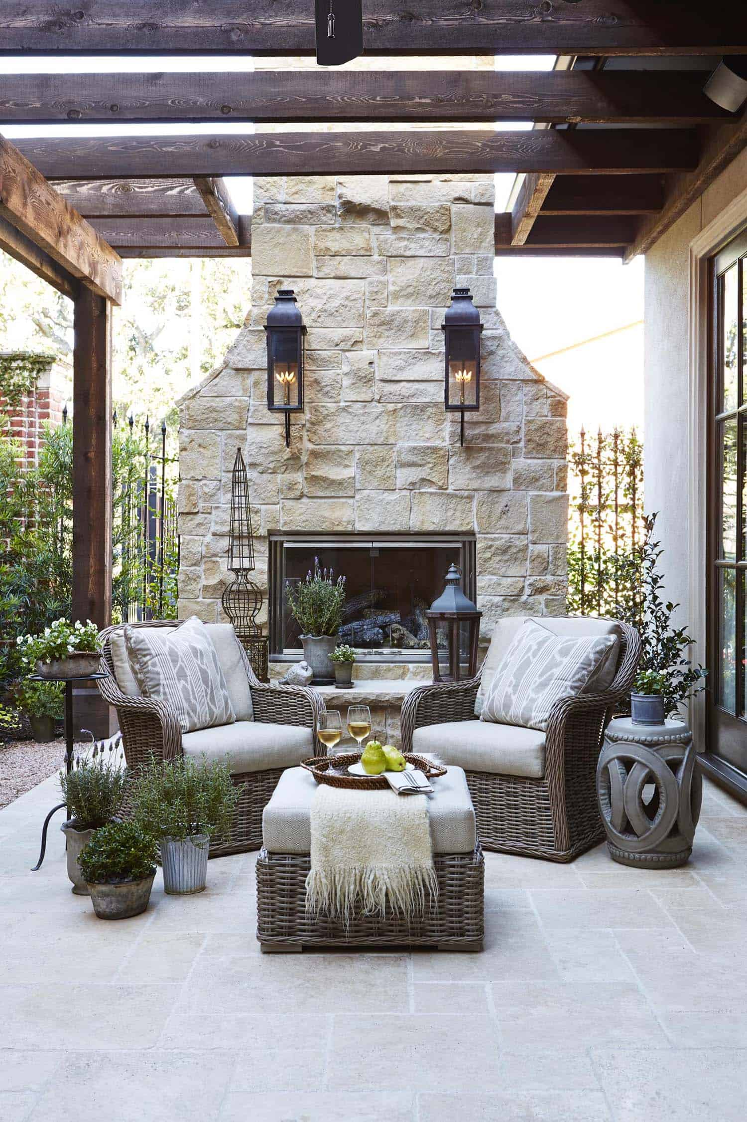 30+ Irresistible outdoor fireplace ideas that will leave ... on Outdoor Kitchen And Fireplace Ideas id=12823