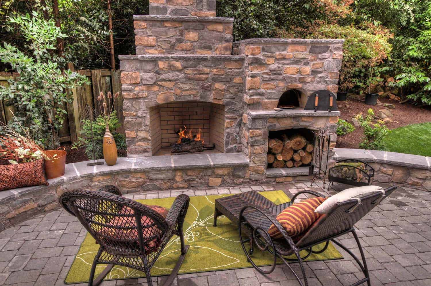 30+ Irresistible outdoor fireplace ideas that will leave ... on Outdoor Kitchen And Fireplace Ideas id=78243