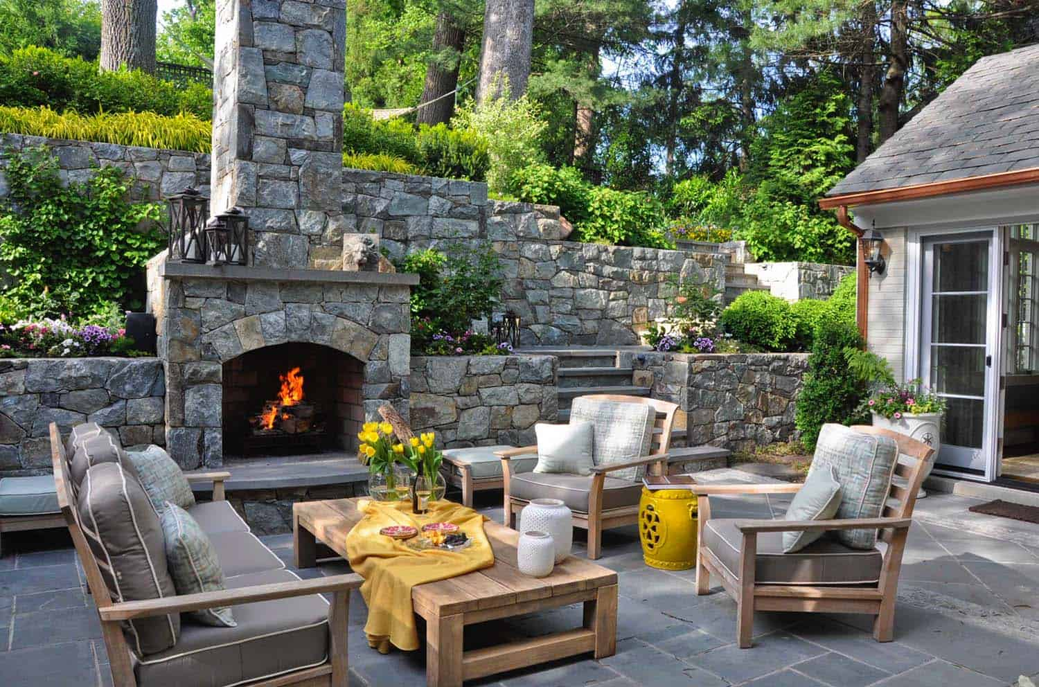 30+ Irresistible outdoor fireplace ideas that will leave ... on Outdoor Fireplaces Ideas  id=93104