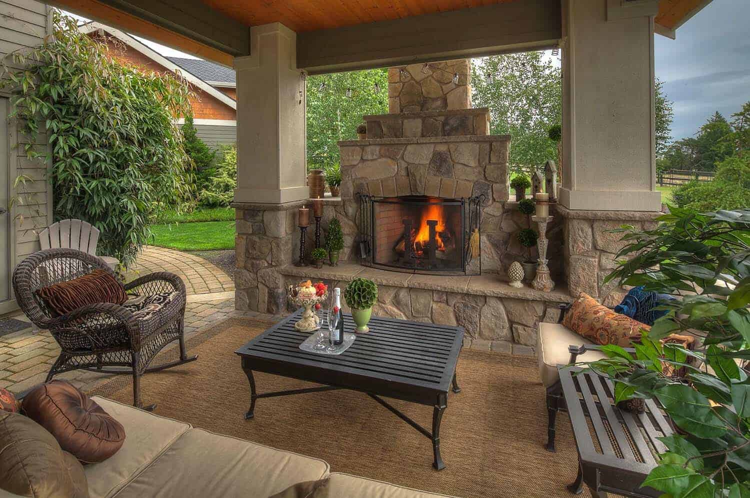 30+ Irresistible outdoor fireplace ideas that will leave ... on Outdoor Kitchen And Fireplace Ideas id=65979