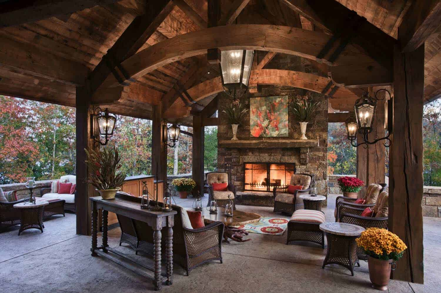 30+ Irresistible outdoor fireplace ideas that will leave ... on Small Outdoor Fireplace Ideas id=96124