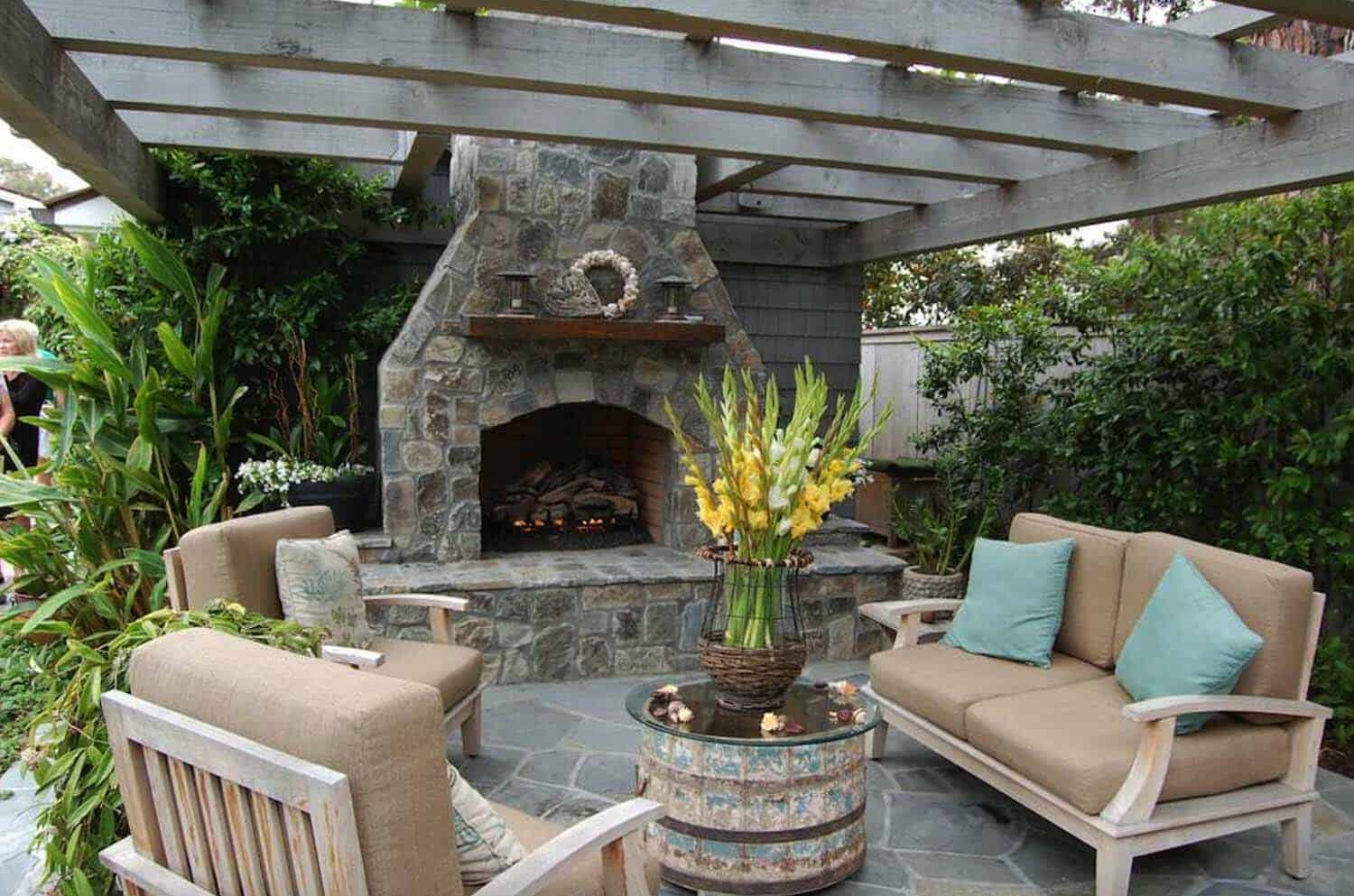 30+ Irresistible outdoor fireplace ideas that will leave ... on Outdoor Fireplaces Ideas  id=56434