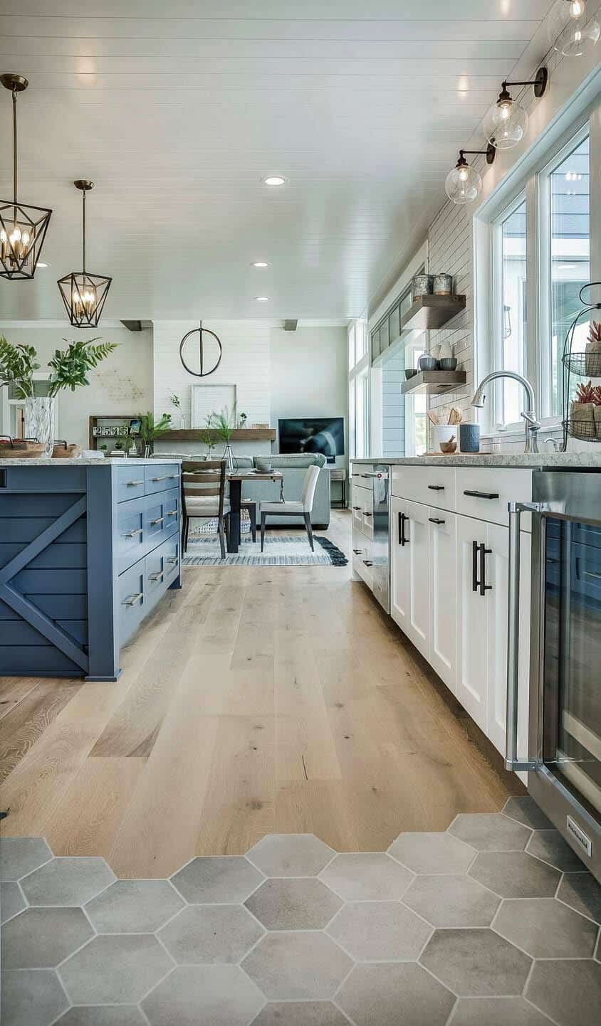 modern eclectic farmhouse with