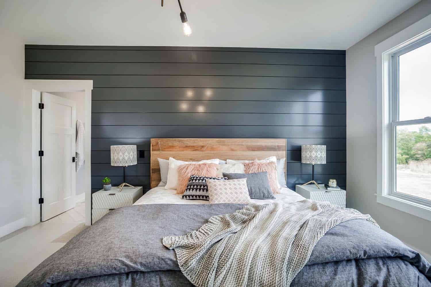 Modern eclectic farmhouse with delightful design features ... on Bedroom Farmhouse Decor  id=29154