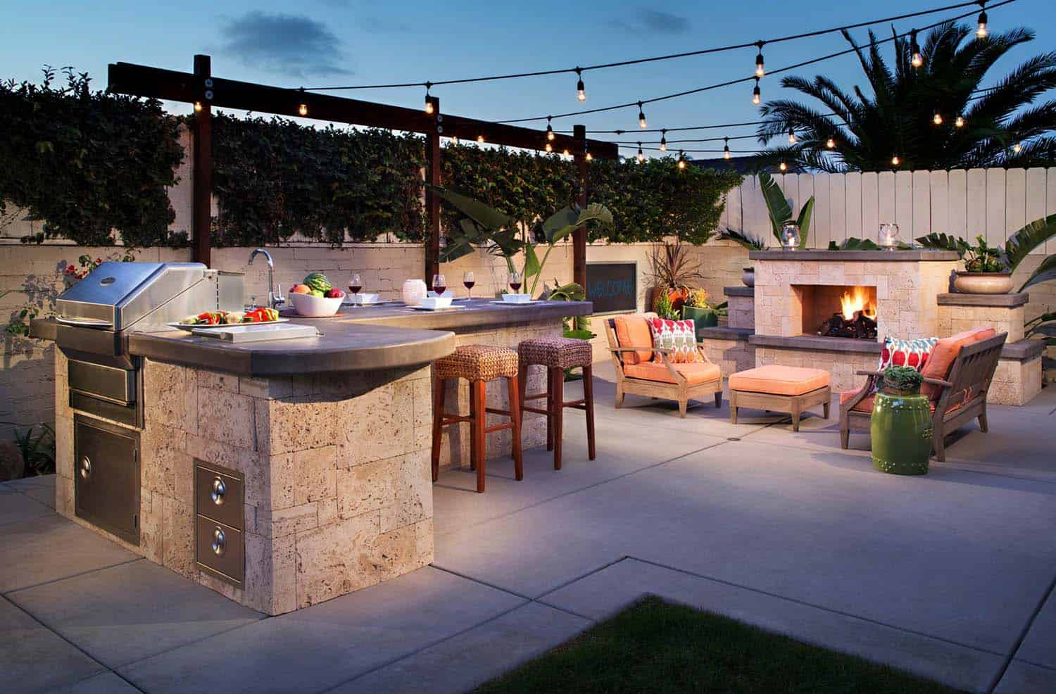 35 Brilliant and inspiring patio ideas for outdoor living ... on Garden Entertainment Area Ideas id=79840