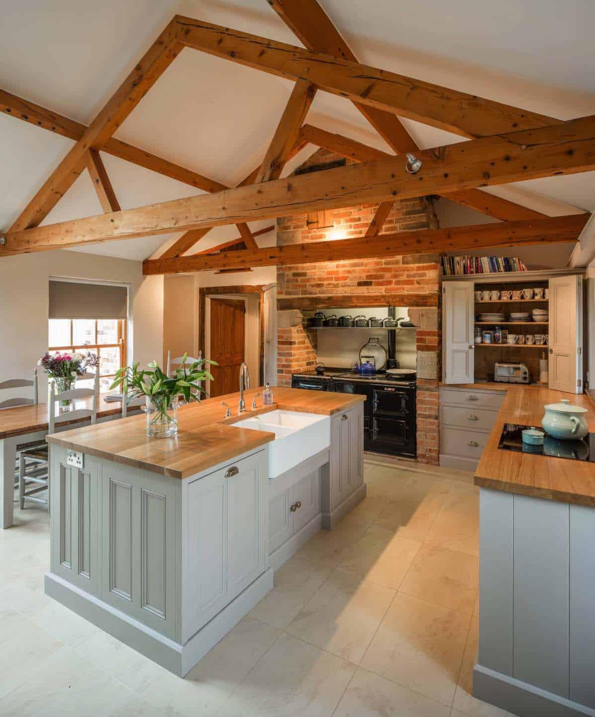 35+ Amazingly creative and stylish farmhouse kitchen ideas on Farmhouse Kitchen Ideas  id=46727