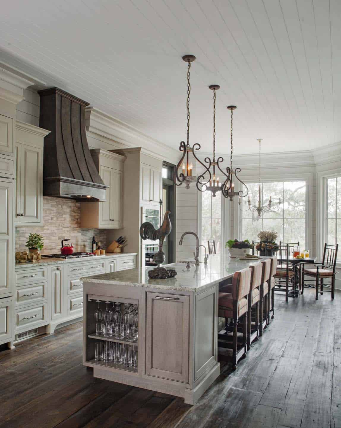 35+ Amazingly creative and stylish farmhouse kitchen ideas on Farmhouse Kitchen Ideas  id=58535