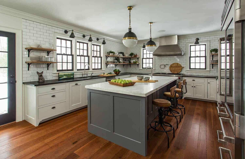 35+ Amazingly creative and stylish farmhouse kitchen ideas on Farm House Kitchen Ideas  id=93251