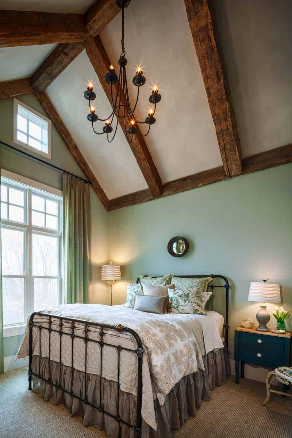 25 Absolutely breathtaking farmhouse style bedroom ideas ... on Bedroom Farmhouse Decor  id=82529