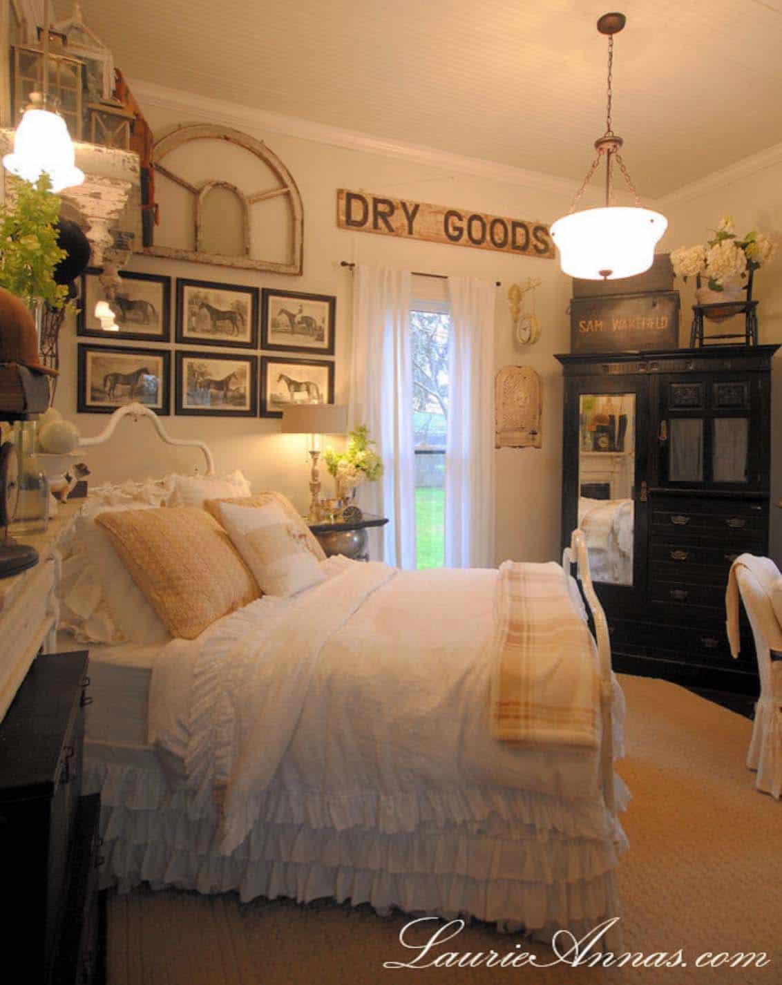 25 Absolutely breathtaking farmhouse style bedroom ideas ... on Bedroom Farmhouse Decor  id=67651