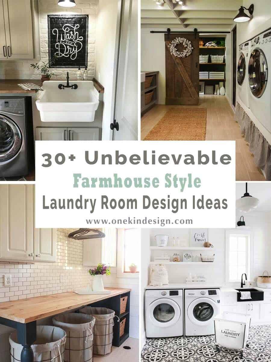 30+ Unbelievable farmhouse style laundry room design ideas on Laundry Decorating Ideas  id=56204