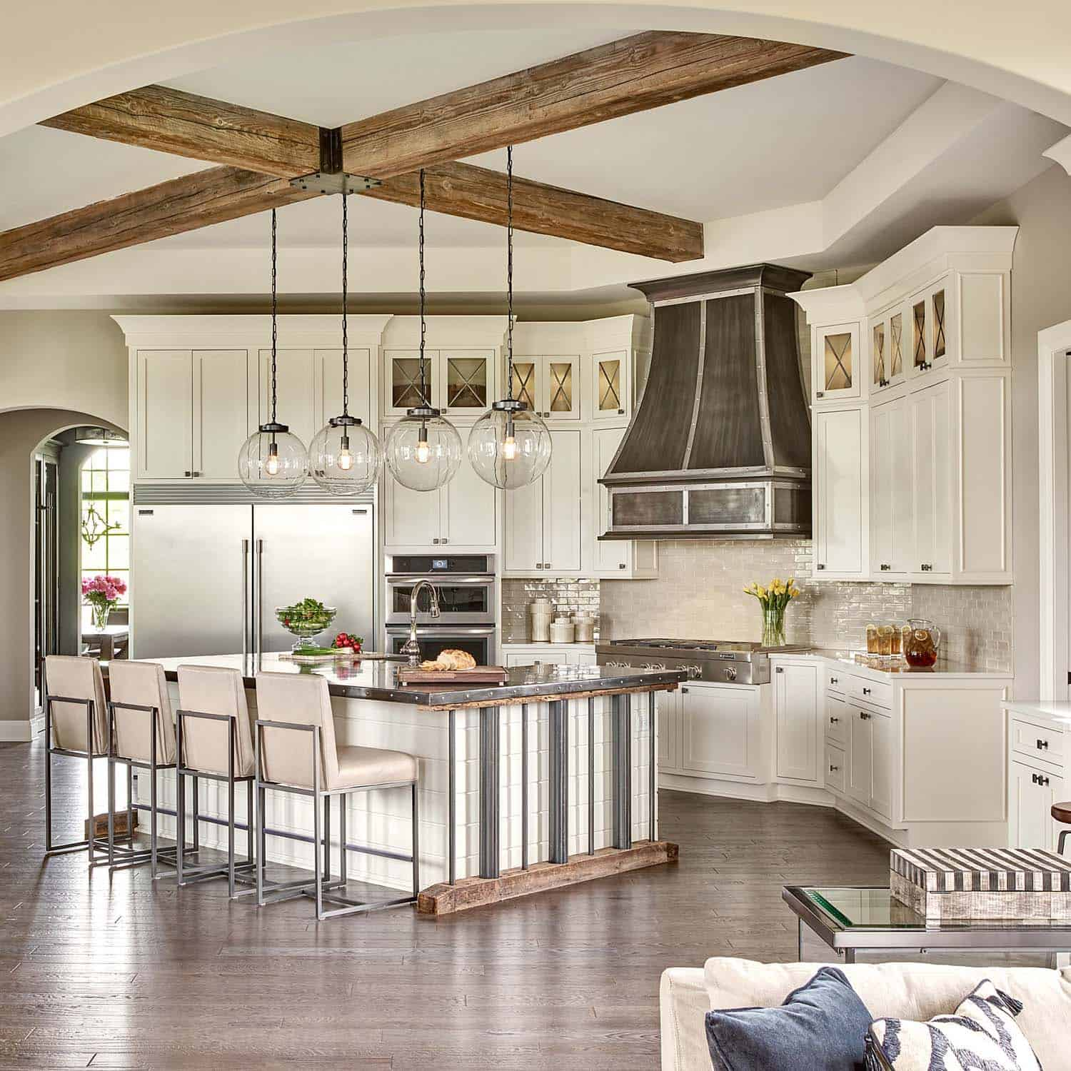 Restoration Hardware styled model home with gorgeous ... on Model Kitchen Design  id=93531