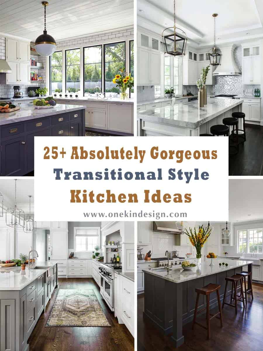 25 Absolutely Gorgeous Transitional Style Kitchen Ideas