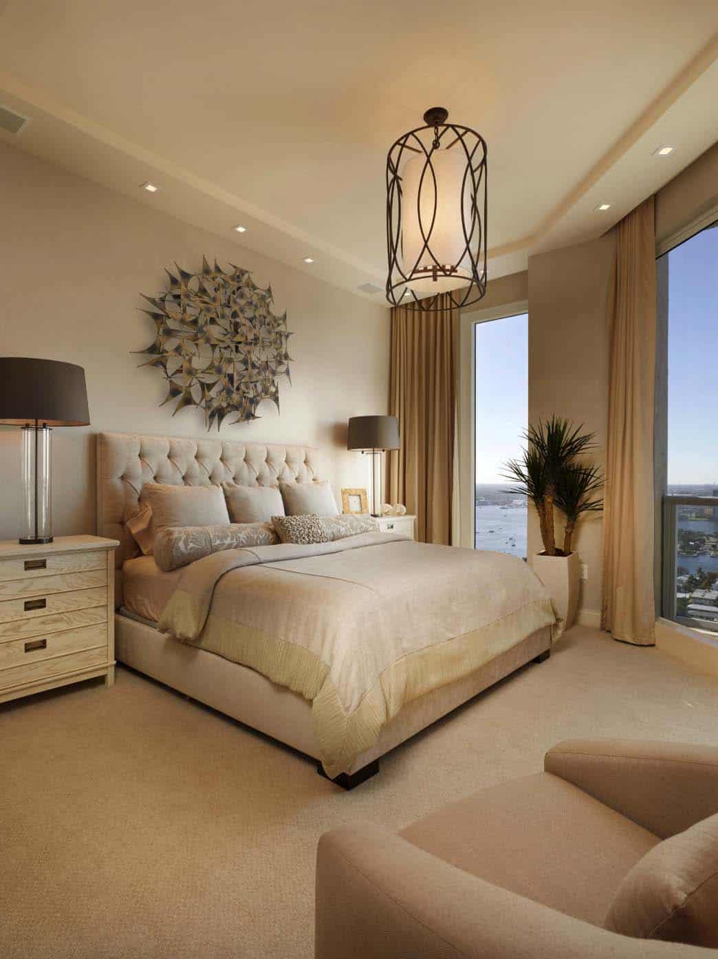 20+ Serene And Elegant Master Bedroom Decorating Ideas on Master Bedroom Curtains  id=12610