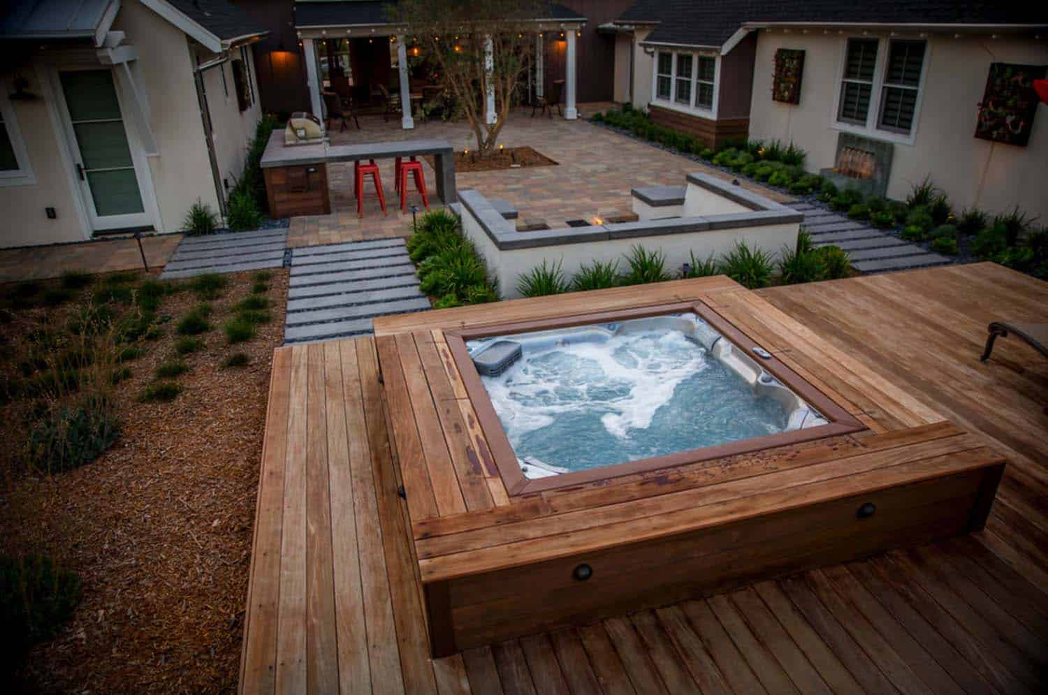 40+ Outstanding Hot Tub Ideas To Create A Backyard Oasis on Deck And Hot Tub Ideas  id=32417
