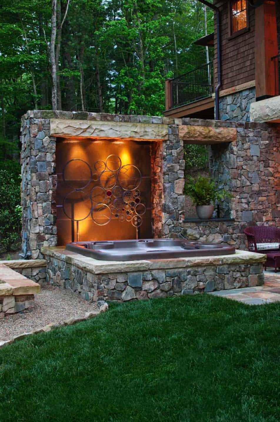 hot tub ideas to create a backyard oasis