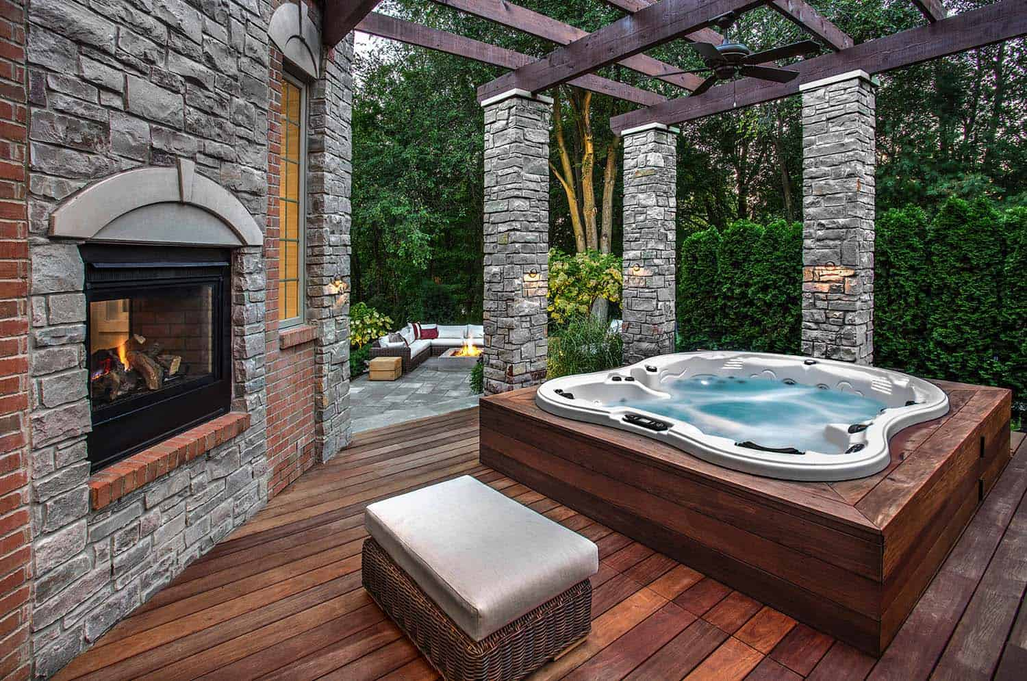 40+ Outstanding Hot Tub Ideas To Create A Backyard Oasis on Deck And Hot Tub Ideas  id=42607