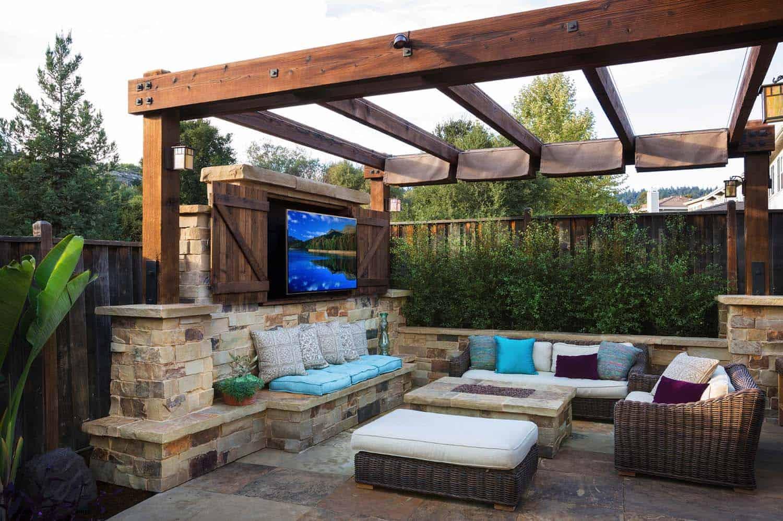 20+ Amazing Pergola Ideas For Shading Your Backyard Patio on Covered Pergola Ideas  id=22487