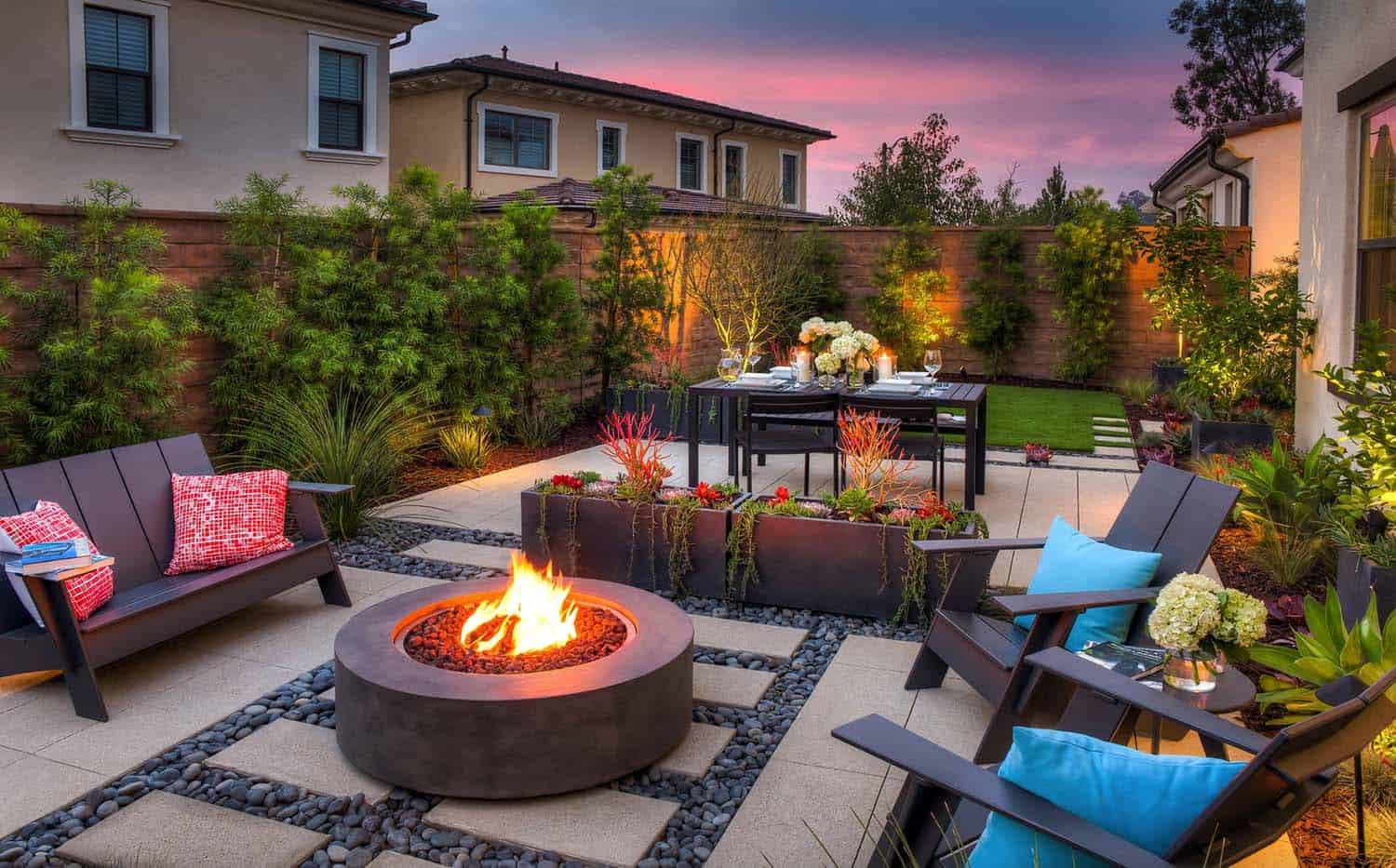 28 Inspiring Fire Pit Ideas To Create A Fabulous Backyard ... on Backyard Patio Designs With Fire Pit  id=17396