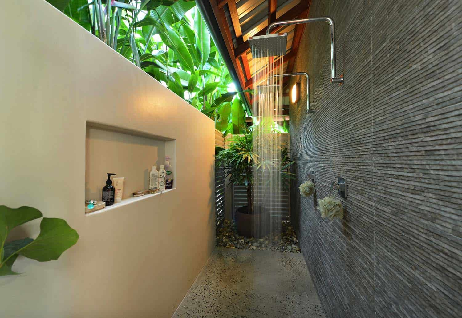 30+ Invigorating Outdoor Shower Ideas To Escape Into Nature on Outdoor Water Softener Enclosure  id=28599