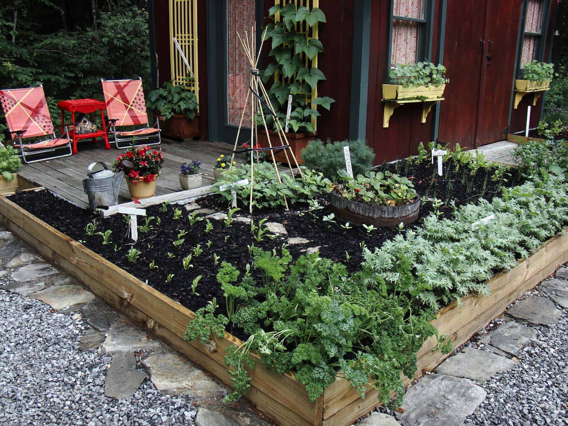 30 Amazing Ideas For Growing A Vegetable Garden In Your ... on Outdoor Vegetable Garden Ideas id=90401