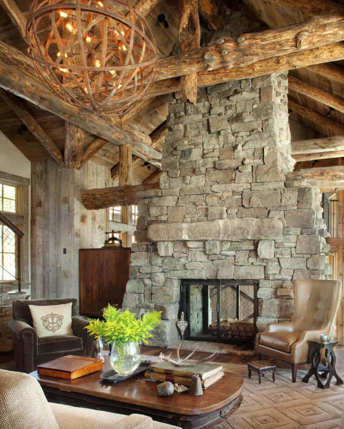 Ski Lodge Hideaway In Montana Boasts Gorgeous Mix Of Rustic