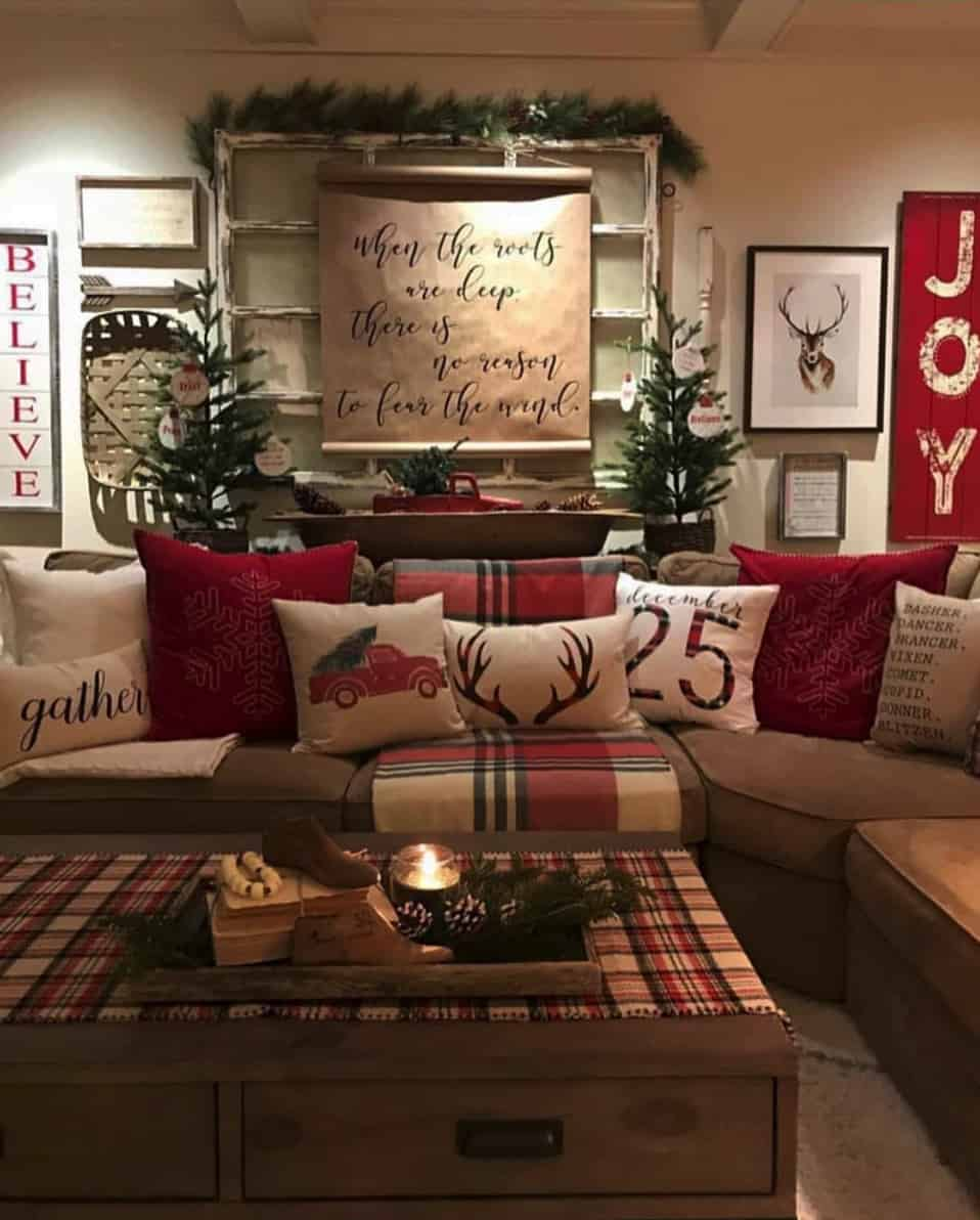 rustic farmhouse christmas decorating ideas