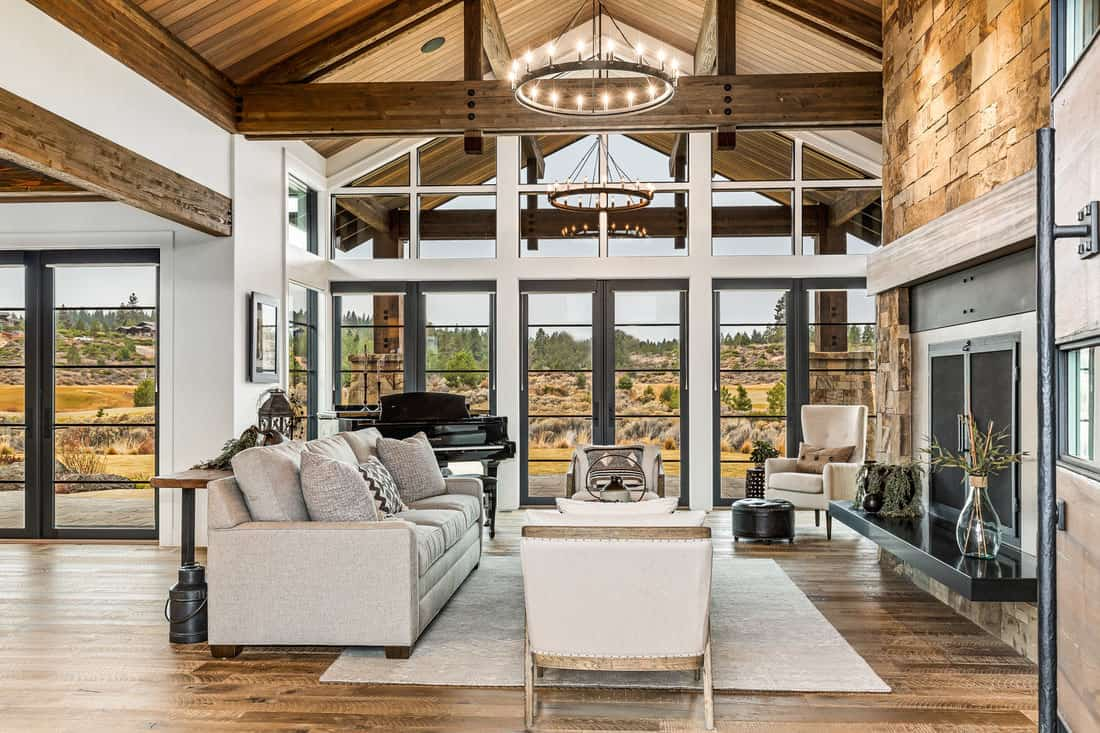 Mountain modern farmhouse with indoor-outdoor living in ... on Farmhouse Outdoor Living Space id=90111