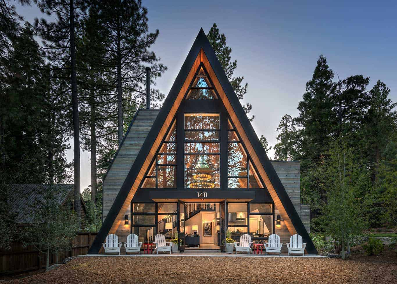 The Most Gorgeous Rustic Contemporary A Frame Cabin In