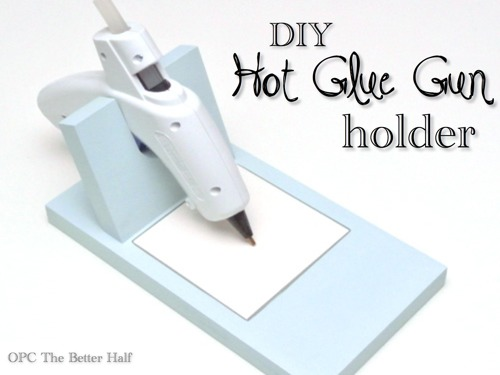 Pinterest Hot Glue Gun Holder