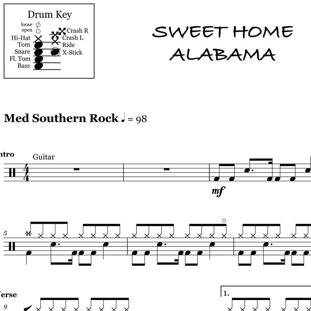 Sweet home alabama (ronnie van zandt & ed king) as performed by lynyrd skynyrd 1974 mca records inc. Sweet Home Alabama Bass Line Off 62 Medpharmres Com