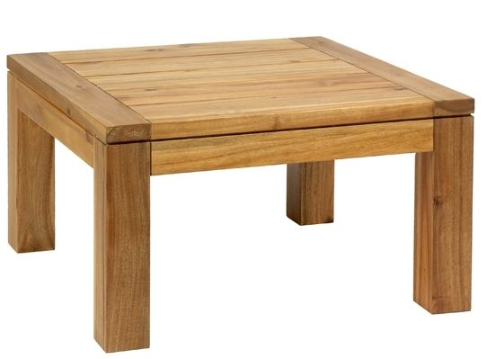 lester outdoor wooden square coffee tables