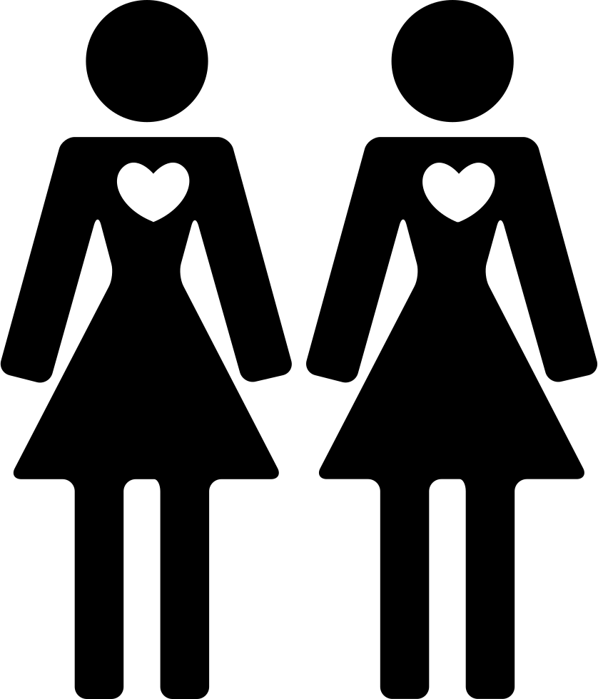 Download Couple Of Women Friends In Love Svg Png Icon Free Download ...
