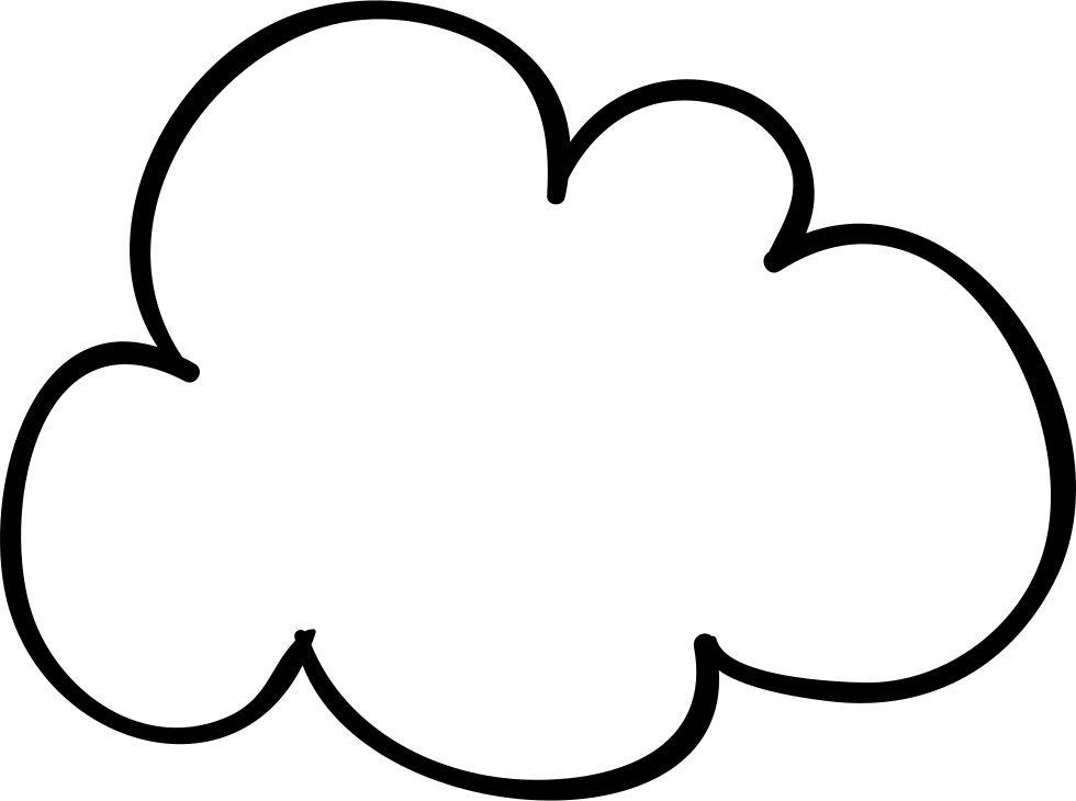 Cloud Sketched Shape Svg Png Icon Free Download 56345