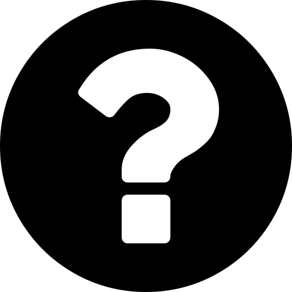 Question Mark On A Circular Black Background Svg Png Icon ...